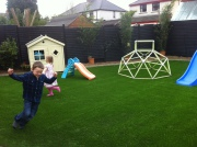 Children Playing on Artificial Grass