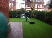 Olympic Silver 30mm artificial grass
